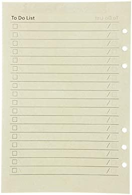 Elonglin 5 Pack A5 Refillable Paper-Dotted Paper+Lined Paper