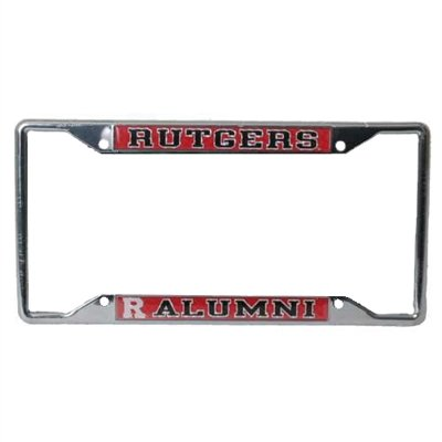 Rutgers Scarlet Knights Alumni Metal License Plate Frame W/domed Insert (Rutgers License Plate)