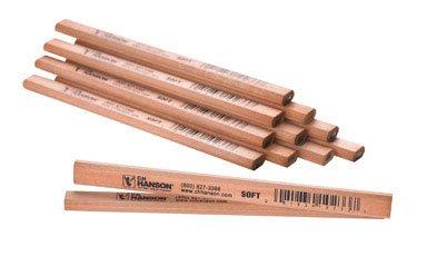 Hanson Carpenter Pencil - Ch Hanson 10233 Carpenter's Pencil With Soft Lead (Pack of 12)
