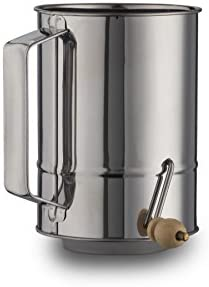 Buy Kitchen Winners 5 Cup Crank Stainless Steel Flour Sifter
