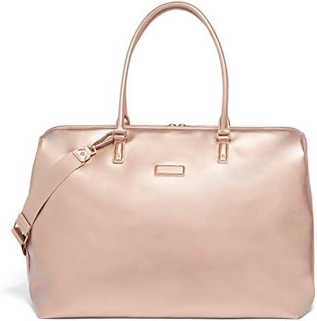 Lipault – Miss Plume Weekend Bag – Medium Top Handle Shoulder Overnight Travel Duffel Luggage for Women – Pink Gold