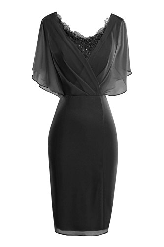 ORIENT BRIDE Modern Scoop Short Sleeve Sheath Mother of the Bride Dresses