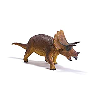 """RECUR 17.9"""" Large Triceratops Dinosaur Toy Cretaceous Period Rampage Figurine Model Realistic Hand-Painted Jurassic Dinosaur Action Figures Ideal Prehistorical Collectibles Boys Gift, Ages 3+"""