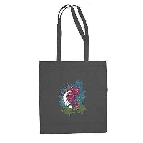 Hedgehog Rings - Stofftasche / Beutel, Farbe: grau