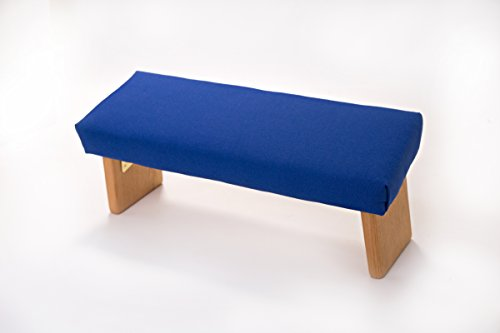 Folding Meditation Bench Angled Legs Blue Standard