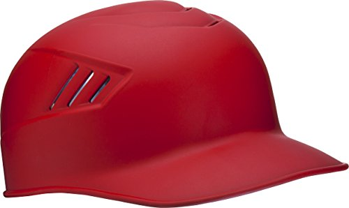 Rawlings Coolflo Matte Style Alpha Sized Base Coach Helmet, Scarlet, Large