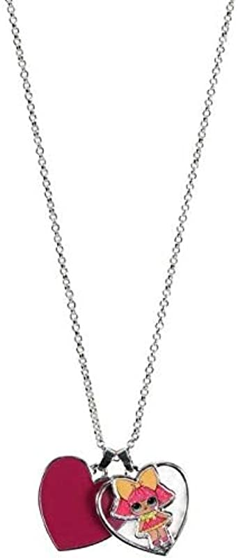 LOL Surprise 2500001118_TU-C14 Collar de Niña con acero inoxidable 18.5 cm, Rosa, Talla única