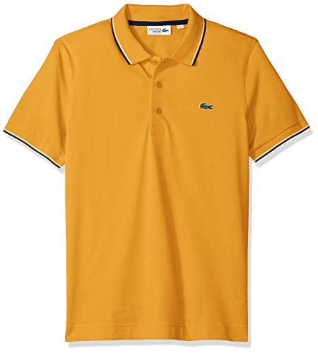 4952553b Lacoste Men's Tennis Short Sleeve Super Light Semi Fancy Polo, YH7900