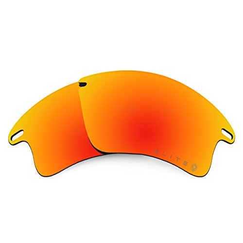 Revant Polarized Replacement Lenses for Oakley Fast Jacket XL Elite Fire Red - Lenses Jacket Fast Oakley
