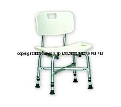 ISG401EA - Bariatric Bath Chair with Back 16-1/2 to 20-1/2 H x 20 W x 12 D Seat Dimension price