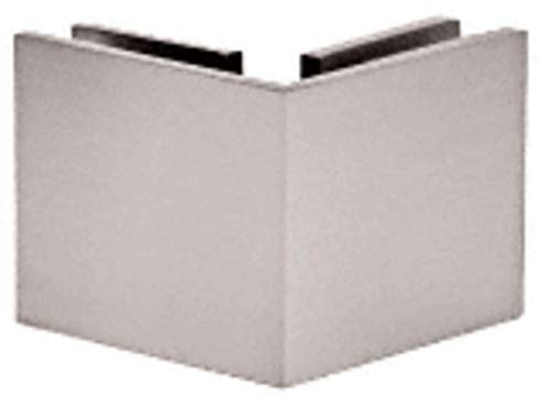 Crl 90 Degree Corner - C.R. LAURENCE SGC90SN CRL Satin Nickel Square 90 Degree Glass-to-Glass Clamp
