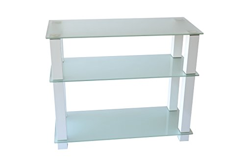 RTA Home and Office TVM-002W Extra Tall Frosted Glass LCD and Plasma TV Stand for a 35