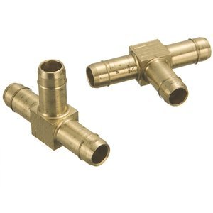 1/4'' Tube Brass Mini-Barb Union Tee (Package of 10)