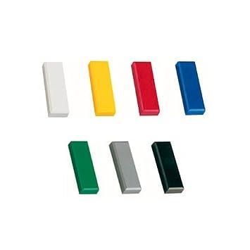 Boards 10x Magnete Wei/ß 54x19 mm Haftmagnete Magnete f/ür Magnettafel Magnet Rund Wei/ß