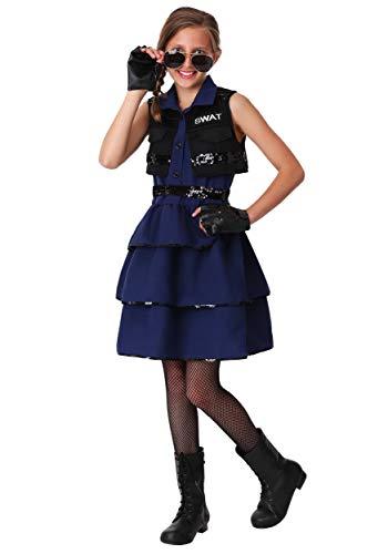 Girl's SWAT Costume Large -