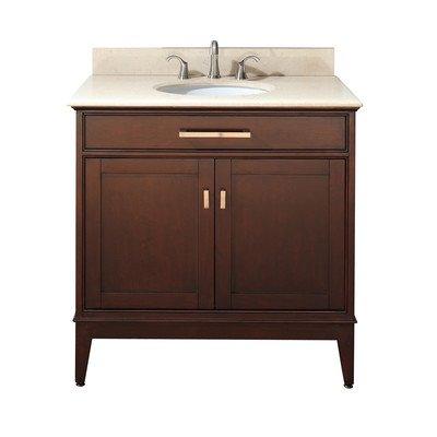 Avanity Madison 36 in. Vanity with Black Granite Top and Sink in (36 Black Vanity)