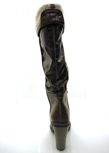 Mustang Botas Zapatos Mujer Botas de mujer Tacones Altos marrón 1253
