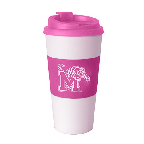 NCAA Memphis Tigers Pink Sleeved Travel Tumbler, 16-ounce ()