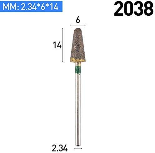 GENERICS LSB-Werkzeuge, 1pc 100 Mesh Emery Schleifkopf for Dremel Präzisionswerkzeuge for die Reinigung von Rohren Schleifen Dremel Zubehör for das Schnitzen (Farbe : 2038)