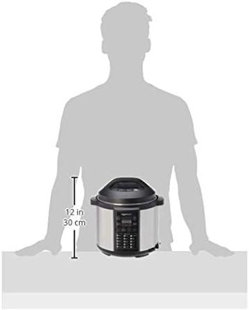 AmazonBasics Cuiseur-vapeur électrique multi-usage 23-en-1, 5,5 litres, 1 000 W, acier inoxydable brossé, avec livre de recettes gratuit