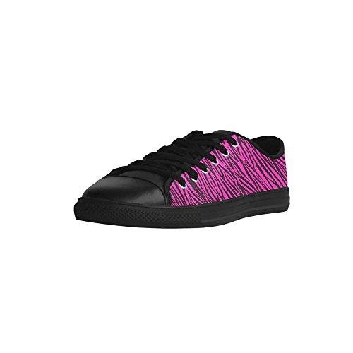 Aquila Stripes Zebra D Story 028 Pink Leather Model Womens Custom Action Shoes w4xq6ITXx