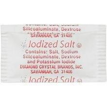 Single Serv Flat Salt Packet, 0.6 Gram -- 3000 per (Flat Fluted)