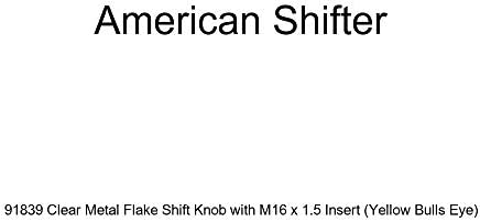 American Shifter 276913 Shift Knob Black Boosted Blue Metal Flake with M16 x 1.5 Insert