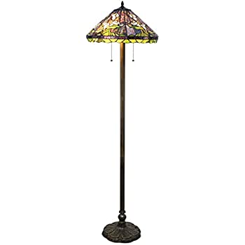 Tiffany hanginghead dragonfly floor lamp amazon tiffany style calla lilly floor lamp mozeypictures Images
