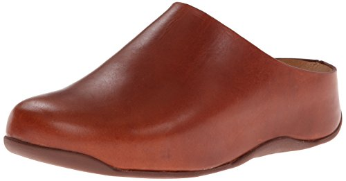 FitFlop Women's Shuv Leather Mule, Dark Tan, 5 M US by FitFlop