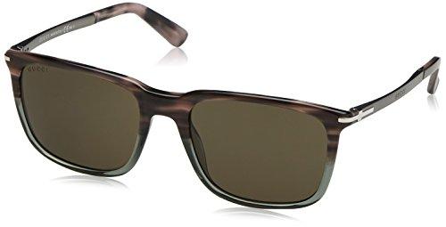 Gucci 1104S GZ4 Havana Grey Ruthenium 1104S Wayfarer - Gucci Wayfarer
