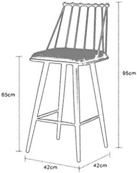 JXS-Barstools Coussin en Cuir de Tabouret Haut de Chaise de Bar Haut Style de Grenier remplissant d'éponge de Rebond approprié pour des familles,oilcolor