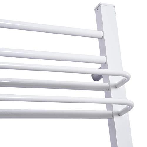HOMCOM Toallero Eléctrico de Pared Calentador Secador Térmico de Toallas para Baño 16 Barras 50x18x80cm Aluminio y PP: Amazon.es: Hogar