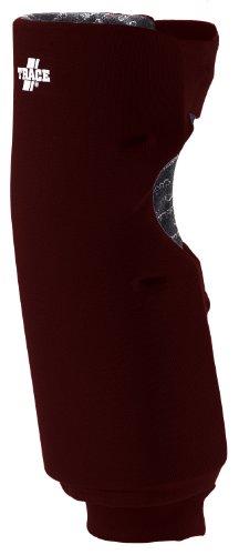 Adams USA Trace Long Style Softball Knee Guard (X-Small, Maroon) (Mizuno Slider Knee Pads)