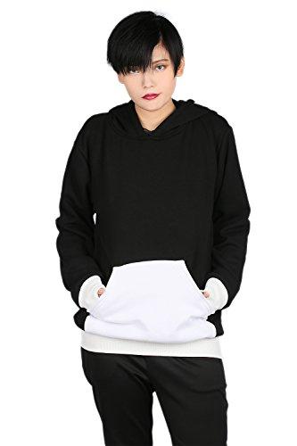 Xcoser Death The Kid Cosplay Hoodie Sweatshirt Costume with Skeleton Printed S