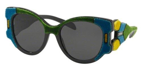 Prada Women's 0PR 10US Azure/Yellow/Green/Grey One - Sunglasses Yellow Prada