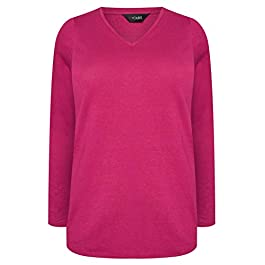 Yours Clothing Womens Long Sleeve T Shirt Top UK Plus Size 16-36