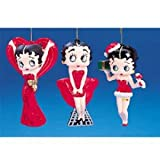 BETTY BOOP BLOW MOLD ORNAMENT SET OF 3