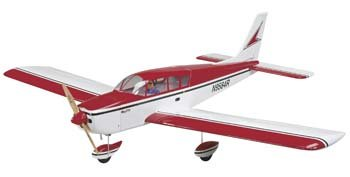Great Planes Cherokee Radio Controlled Glow or Electric-Powered Almost-Ready-to-Fly .40-.56 Sport ()