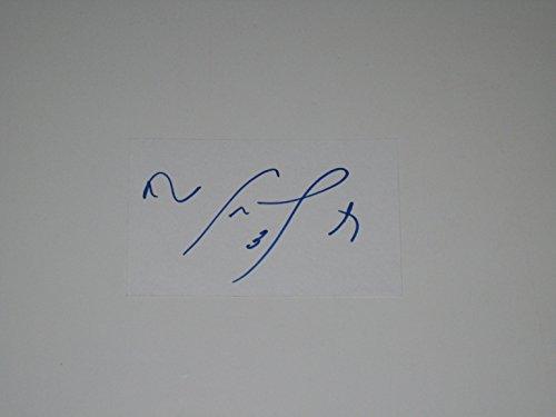 Cam Neely NHL Boston Bruins Canucks Autographed Index Card JSA COA