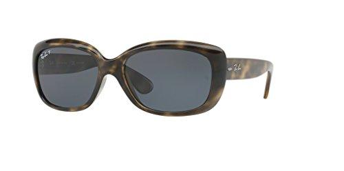 Ray-Ban RB4101 JACKIE OHH 731/81 58M Havana Grey/Dark Grey Polarized Sunglasses For Women