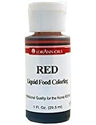 Lorann Oils Liquid Food Color, 1-Ounce, Red