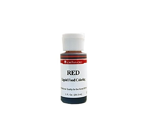 Lorann Oils Liquid Food Color, 1-Ounce, Red