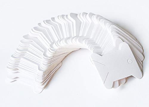 (100 Pieces Floss Bobbins Paper Cross Stitch Embroidery Thread Organizer Cardboard Floss Bobbins DIY Crafts Floss Bobbins Thread Bobbin Card (White))