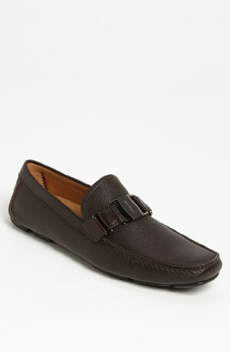 Salvatore Ferragamo Sardegna Mens Leather Loafers Made in Italy (8 EE US, Chocolate)