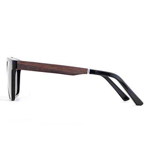 Sol Gimitunus Lente y al Hombres Fibra Ultra polarizadas de Sol UV Ligero de Acetato Gafas Protección Playa de Libre Negro Conducción Vintage Hombre para Pesca Aire Madera Gafas TAC Marco rv6TpqZrw