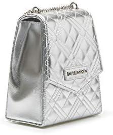 Love Moschino - Bolso bandolera para mujer JC4246PP0AKA0 902, color plateado XXd6cEeK