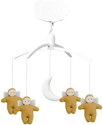 Mozart - Estuche musical con diseño de ángeles de tela de lino, diseño de Lullaby clásico, ideal como regalo de nacimiento, fácil de instalar: Amazon.es: Bebé