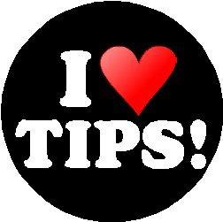 Love Pinback Button (I Love TIPS! 1.25