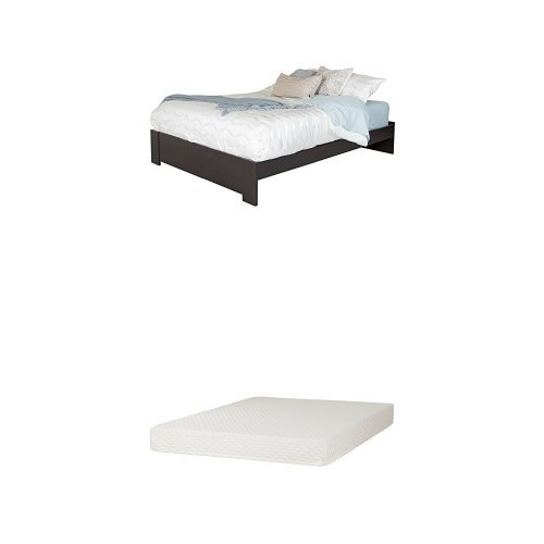South Shore Gloria Queen Platform Bed , Chocolate, and Somea
