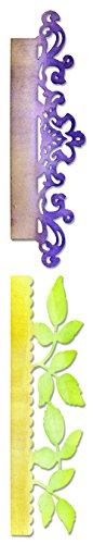 Sizzix Sizzlits Decorative Strip Die - Card Edges, Decorative Accent & Leaves by Scrappy Cat